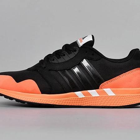 adidas阿迪达斯透气轻便男鞋潮流舒适男款跑步鞋 帆布鞋黑/桃红女鞋