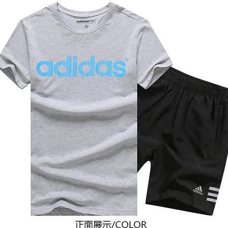 ADIDAS阿迪达斯男套装2016夏新款运动短袖T恤短裤装