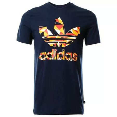 ADIDAS阿迪达斯 陈冠希同款三叶草短袖t恤男运动纯棉短袖T恤