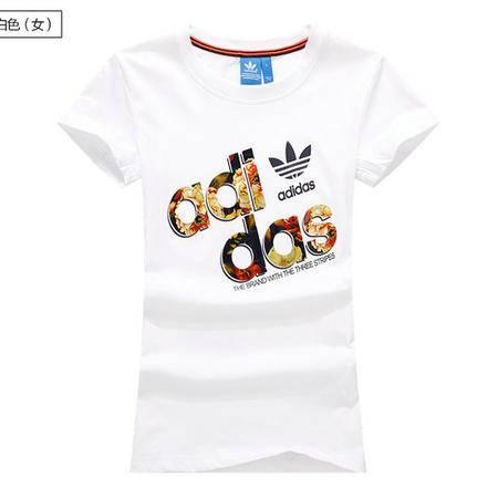ADIDAS阿迪达斯 潮牌短袖T恤男女三叶草修身纯棉打底衫短袖情侣16夏