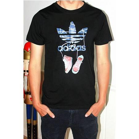 Adidas 三叶草2016新款圆领运动衣男子运动经典休闲短袖全棉T恤