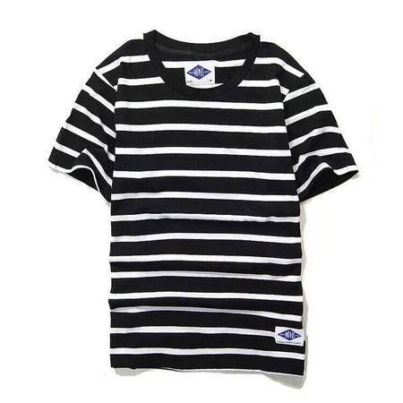 ADIDAS阿迪达斯 新款MDNS条纹款圆领短袖T恤经典款明星同款