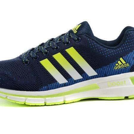 adidas阿迪达斯爆米花飞线 Boost缓震情侣跑步鞋