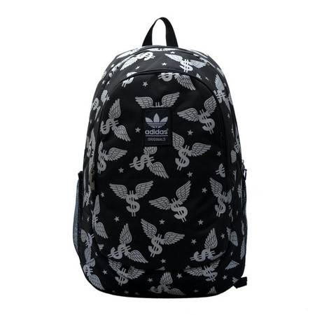 ADIDAS阿迪达斯 新款阿迪双肩背包三叶学生书包电脑旅游运动背包
