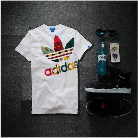 Adidas阿迪达斯短袖T恤男女三叶草新款潮休闲运动T恤