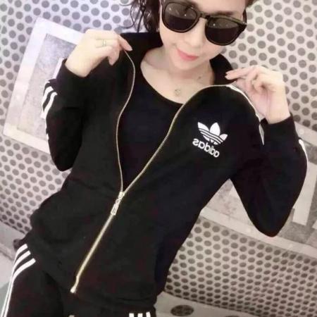 阿迪达斯/ADIDAS三叶草新款运动套装女韩版跑步休闲服