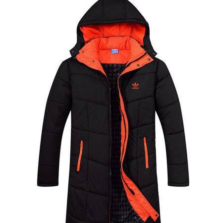 阿迪达斯/ADIDAS 羽绒服男中长款保暖棉衣三叶草加厚外套