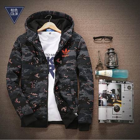 阿迪达斯/ADIDAS 外套男连帽开衫上衣三叶草纯棉夹克运动卫衣加绒