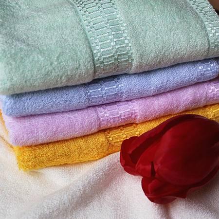 竹豪 竹纤维毛巾2条 颜色随机
