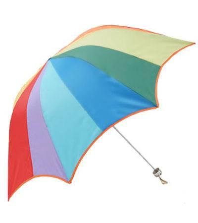 天堂伞彩虹伞三折雨伞折叠专卖拱形银胶 33061E彩虹故事