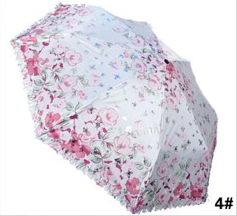 包邮 天堂伞银蝶恋花 防紫外线晴雨伞