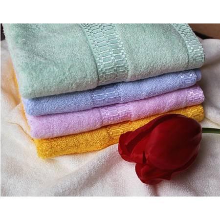 包邮竹豪 竹纤维美容毛巾 洁面巾 抑菌竹纤维洗脸巾4条 颜色随机