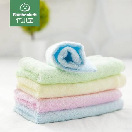 6条装竹小宝婴儿毛巾口水巾宝宝新生儿 方巾 洗脸毛巾竹浆纤维