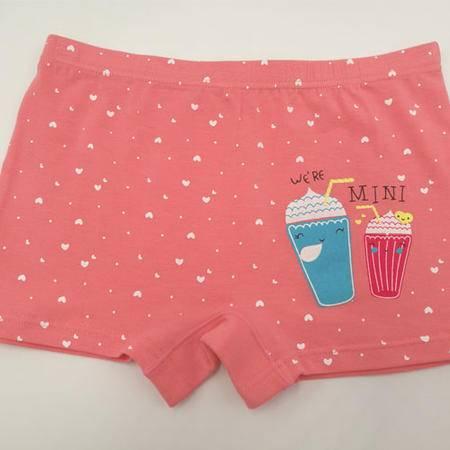 【4条装】包邮好安怡 莱卡棉女童平角内裤女宝宝短裤 颜色随机XS039