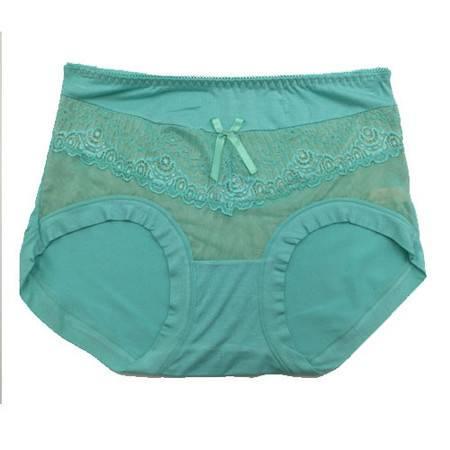 2条 好安怡女士莫代尔蕾丝性感三角中腰内裤 舒适透气 短裤颜色随机 XS055