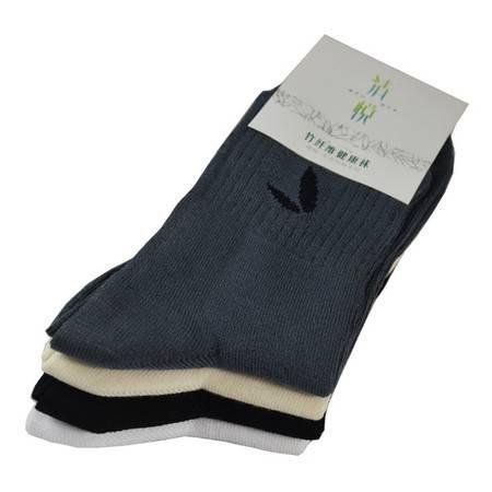 清悦 生态竹纺 竹纤维男袜SO-181 春秋袜抗菌防臭(5条包装)