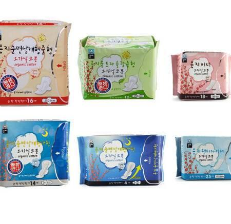 进口卫生巾韩国恩芝6包特惠套装