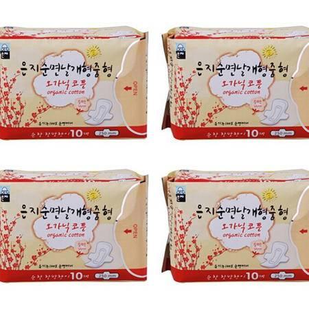 进口无荧光剂恩芝纯棉日用卫生巾 40片包邮套装