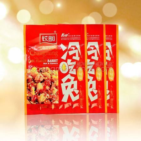 四川美食特产 长明香辣冷吃兔 无骨兔肉 112g麻辣味 自贡特色小吃