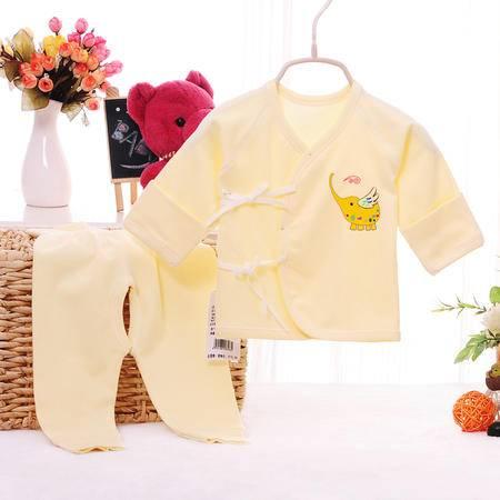 亨艺开阳小象合同衫套装 婴儿和尚服 新生儿内衣套装 婴儿春秋装