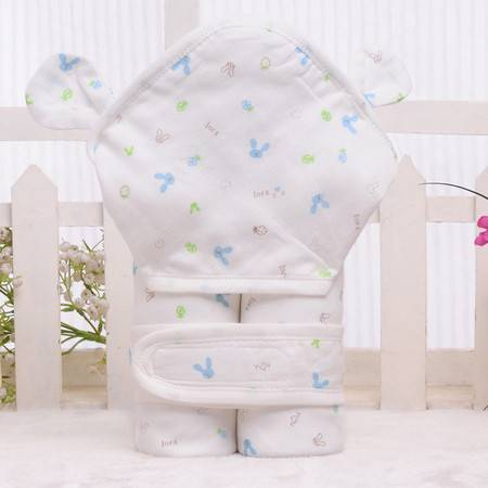 亨艺开阳婴儿抱裤加厚纯棉纱布抱被75X75CM 男女宝宝纯棉抱被包被