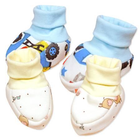亨艺开阳婴儿加绒保暖护脚套 男女宝宝纯棉加厚护脚套