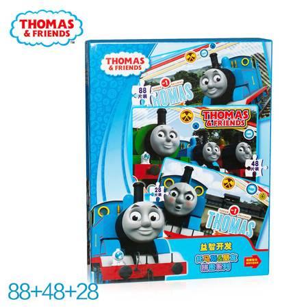 Thomas托马斯卡通儿童精品框式拼图88+48+28片装