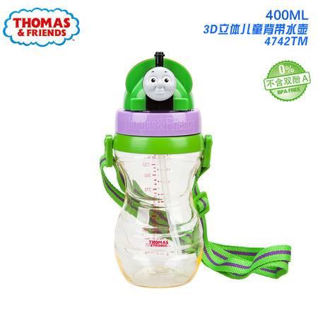 Thomas托马斯儿童背带水杯3D卡通吸管杯立体时尚水壶