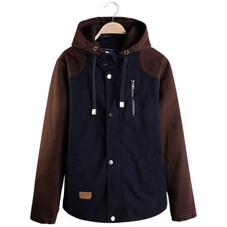 壹恺/y.kay2016春季男装男士夹克开衫青年外套修身薄款韩版长袖连帽纯色外套J06