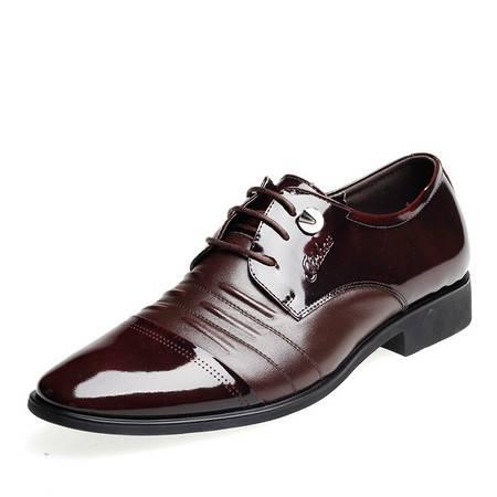 金猴春秋真皮简约时尚舒适大方商务正装平底系带欧版潮流男式单鞋SQ2344