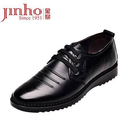 金猴正品 新款头层牛皮男单鞋日常休闲正装系带男鞋低帮鞋Q2954/Q2955