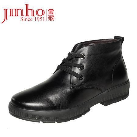 金猴皮鞋系带保暖舒适时尚休闲潮流男棉鞋Q8920