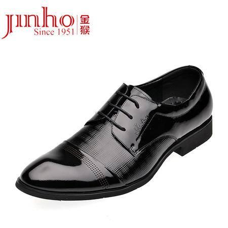 金猴皮鞋正品真皮头层新款鞋商务休闲鞋时尚英伦系带潮男单鞋Q2937