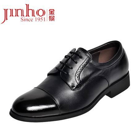 金猴皮鞋正品 功勋鞋男士牛皮商务正装鞋三接头皮鞋 三节头校尉鞋WX613