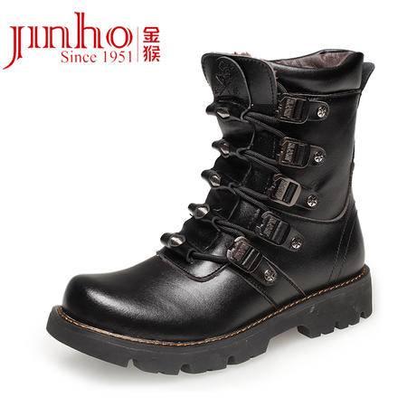金猴男靴军靴 男特种兵秋冬季户外皮靴战靴 真皮军鞋Q8908