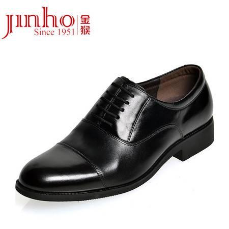 金猴正品头层牛皮男鞋将军鞋时尚商务正装三接头牛皮男单鞋功勋鞋21740