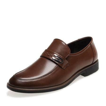 金猴春季新款男士休闲商务单鞋简约时尚正品头层牛皮SQ2999