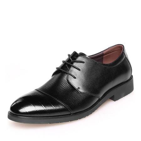 金猴 Jinho时尚新款潮流系带 商务休闲 绅士帅气男士皮鞋男单鞋Q2007