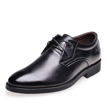 金猴 Jinho新款经典大方 商务正装 真皮套脚舒适男男单鞋 SQ2010/SQ2011