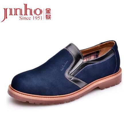金猴 Jinho时尚流行新款 时尚休闲 套脚 反绒皮 韩版 男士皮鞋 Q29091/92