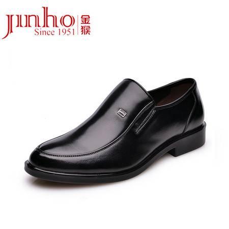 金猴 Jinho新款简约舒适牛皮 商务正装风范真皮 大气耐磨男士皮鞋Q20005A