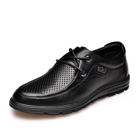 金猴皮鞋 真皮时尚舒适男士休闲凉鞋Q38012A/B