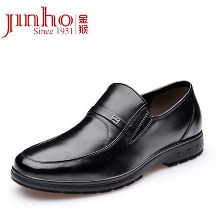 金猴新款男单鞋 真皮时尚舒适商务休闲皮鞋SQ20010A