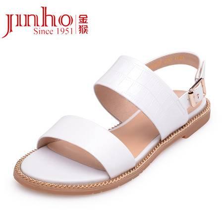 金猴新款凉鞋 真皮时尚休闲韩版凉鞋女士低跟凉鞋SQ6897A