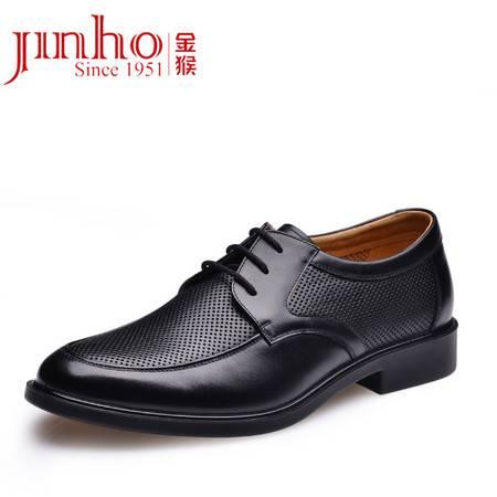 金猴新款男凉鞋 真皮时尚商务休闲系带镂空男凉鞋Q30004A