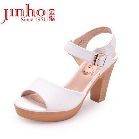 金猴皮鞋 夏季新品 甜美休闲高跟显瘦凉鞋女 时尚女凉鞋夏 SQ60003C/D/E