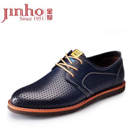 金猴夏季新款男鞋 真皮时尚舒适男士潮鞋英伦风男凉鞋SQ30012A/C/D