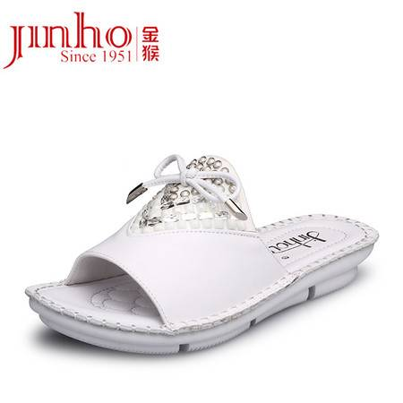 金猴皮鞋 夏季新款 时尚牛皮真皮女士鞋托 休闲热卖女凉鞋 SQ6887A/B/C