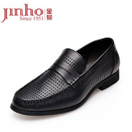 金猴皮鞋 夏季新款 时尚休闲镂空男士皮鞋 真皮耐磨凉鞋男鞋 SQ38011A/B