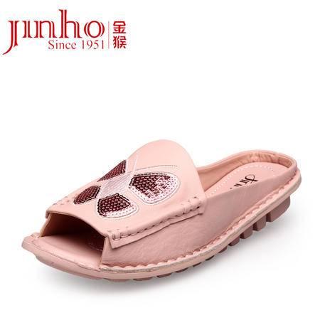 金猴皮鞋 夏季新款 时尚舒适真皮牛皮鞋托 甜美热卖凉鞋女 SQ6886A/B/C